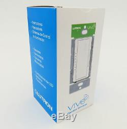 New Lutron Vive Maestro Wireless Mrf2s-6elv120-wh Rf Light Dimmer Switch 600w