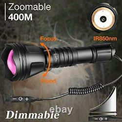 Odepro KL52-IR Zoomable 1312ft IR850nm Infrared Light with Dimmer Remote Switch