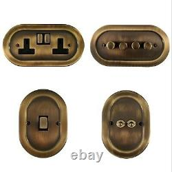 Oval Antique Bronze OAB3 Light Switches, Plug Sockets, Dimmers, Cooker, Fuse