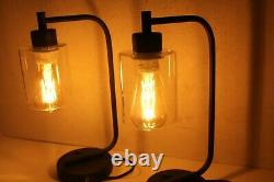 Pair of Modern Side Table Lamps