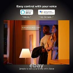 Philips Hue Richer Colours B22 BC Bayonet White Colour Ambience Starter Kit