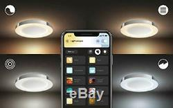 Philips Hue White Ambiance Adore Smart Flushmount Light + Dimmer Switch Requi