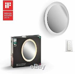 Philips Hue White Ambiance Adore Smart Lighted Mirror with Dimmer Switch