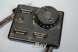 RARE Vintage WWII German EM36 MG34 MG42 MGZ Optic Binocular Light Dimmer Switch