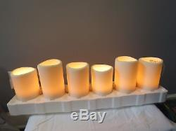 Restoration hardware 6 pillar candle string lights with dimmer switch