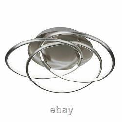 Searchlight Magic LED Flush Light Satin Silver
