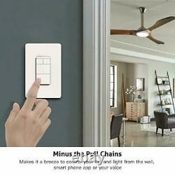 Smart Ceiling Fan Control and Dimmer Light Switch, Remote Control (1PACK)