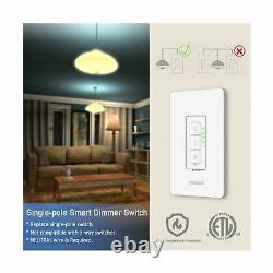 Smart Dimmer Switch, TESSAN Dimmable WiFi LED Light Dimmer Switch, Compatible