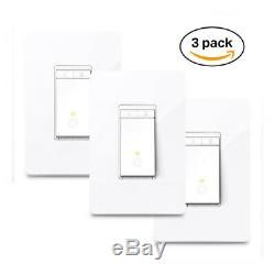 TP-LINK HS220P3 Kasa Smart WiFi Light Switch (3-Pack), Dimmer by TP-Link