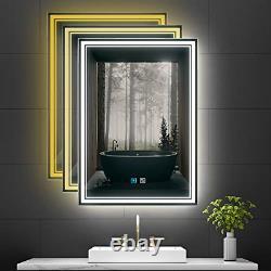 Tokvon Monet led illuminated bathroom mirror with adjustable color temperature