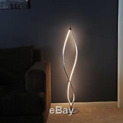 Twist Modern LED Floor Lamp Living Room Tall Foot Dimmer Switch Office Light