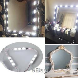 Vanity 60 LED Mirror Light Kit Makeup Hollywood Mirror Touch Dimmer Switch 9.8ft