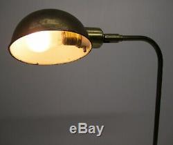 Vtg Frederick Cooper Brass Floor Lamp Pharmacy Light Adjustable With Dimmer Switch