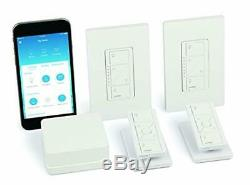 Wireless Smart Lighting Dimmer Switch Starter Kit with Pedestals Deep Back Cover