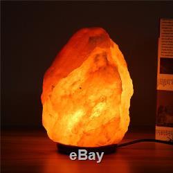 1-15kg Himalaya Salt Lamp Naturel Cristal Rock Forme Variateur Interrupteur Nuit Lumière