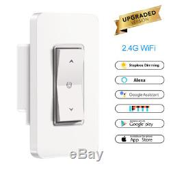 1 Gang Wi-fi Gradateur Stepless Interrupteur De Lumière Smart Switch Wifi 2.4ghz Dans Le Mur