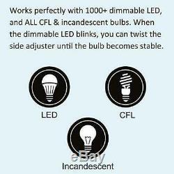 10 Interrupteur Variateur De Lumière Bestten, Commande D'éclairage Universelle, Un Pôle
