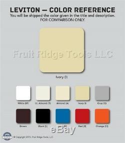 10 Nouveau Leviton Decora Faites Glisser Gradateurs Lumiére 600va Basse Tension D'ivoire 6611-pi