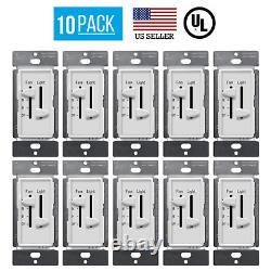 10 Pack Dual Dual Curseur Ventilateur De Ventilateur De Lumière Led Dimmer Switch Polole