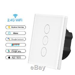 10 Pcs Smart Light Dimmer Dans Mur Contrôle Tactile Wifi Commutateur D'éclairage Travailler Avec Alexa