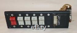 1970 Piper 28-140 Switch Panel, Dimmer, Carburant, Lumières, Batteries, Chaleur. Utilisé
