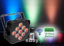 (2) Pro-chauvet D6 Interrupteur Variateur Pack De 115v / 230v + Sans Fil Batterie Par Can Lumière