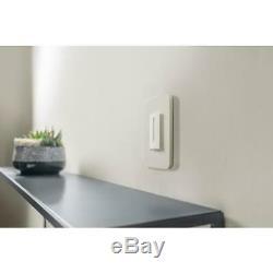 400 Watts Unipolaire Cfl / Led / Gradateur Incandescent Interrupteur De Lumière Blanche 2-pac