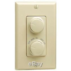 5 Do It Meilleur Unipolaires Ivoire Rotary Light & Fan Control Commutateur R21-rtd01-10i