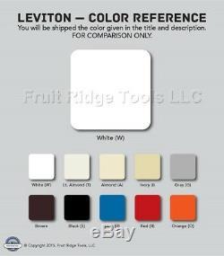 5 Interrupteurs Variateurs De Lumière Préréglés Blancs Leviton, 3 Entrées, 1000w Mag, Basse Tension