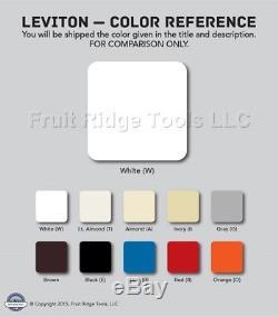 50 Gradateurs De Lumière De Decora Non-lumineux Blancs De Leviton Commutant La Basse Tension Ipe04-10w