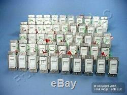 50 Leviton Blanc Decora Gradateurs D'éclairage Non Lumineux Interrupteurs À Basse Tension Ipe04-10w