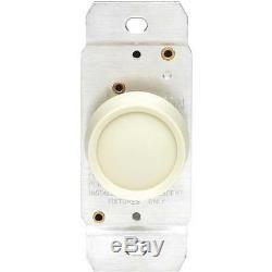 50 Leviton Unipolaires Ivoire 600w 120v Variateur Rotatif Interrupteur C21-00700-00i