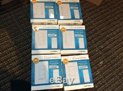 6-lutron Caseta De Communication Sans Fil Wall Light Gradateur + Distance (p-pkg1w-wh-r)