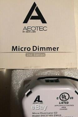Aeotec Z-wave Micro Dimmer 2ème Édition! Smart Lighting Commutateur De Commande (nouveau!)