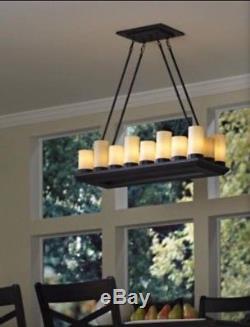 Allen + Roth Lustre À 18 Ampoules En Bronze Huilé Avec Gradateurbonus