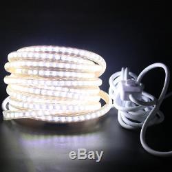 Bande De Led 220v Ip67 3014 Smd 120leds / M Lumière Commerciale + Gradateur, Commutateur, Eu Plug