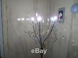 Belle Lampe De Salon En Métal Poli, Arbre De Lumière Avec Variateur De Lumière