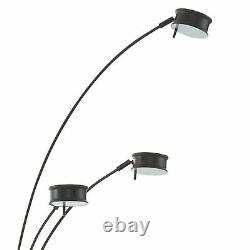 Benjara 5 Light Metal Lampe À Arc Avec Diffuseur Et Gradateur, Noir