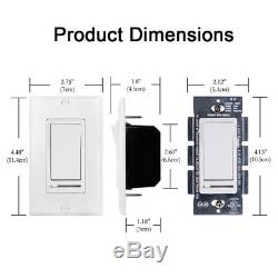 Bestten Simple Et 3 Way Light Interrupteur De Lumière Dimmer Cfl / Led 120v 60hz Ul Certifié