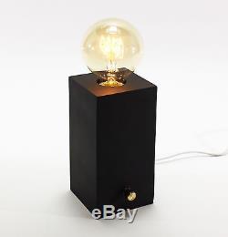 Brilliant Table Lampe De Bureau Edison Avec Gradateur Noir Incl. Ampoule Nouveau