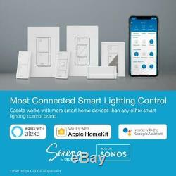 Caseta Smart Wireless Lumineux Commutateur Pour Vle + Ampoules, Blanc