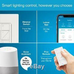 Caseta Smart Wireless Lumineux Switch 2 Count Kit De Démarrage Intelligent Fiable