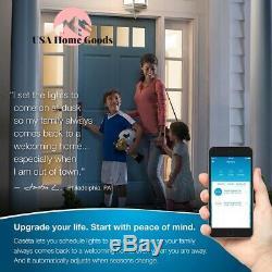 Caseta Smart Wireless Lumineux Switch (2 Pièces) Kit De Démarrage Avec Mobile App