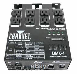 Chauvet 4 Canaux Dj Dimmer / Switch Relais Pack Contrôleurs Lumière (2 Pack) Dmx-4