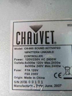 Chauvet Ch-865 Dj Gradateur / Interrupteur De Relais Pack Light Controller