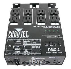 Chauvet Dmx-4 4 Canal Dmx-512 Dj Gradateur / Commutateur Relais Lumière Contrôleur
