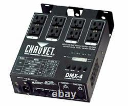 Chauvet Dmx-4 4 Channel Dmx-512 Dj Dimmer/switch Relay Pack Light Controller
