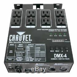 Chauvet Dmx-4 Led 4 Canaux DMX Dj Switch Switch Dimmer Relay Power Pack Nouveau