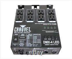 Chauvet Dmx44-canal DMX Dj Interrupteur D'éclairage Dimmer Relais Puissance Bloc Livraison Gratuite