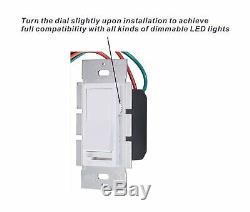 Cloudy Bay Électrique Interrupteur 3 Voies Unipolaire Dimmer Plaque Murale 10 Pack